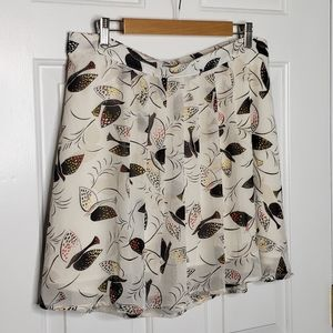 Old Navy abstract doves of peace sheer skirt Large